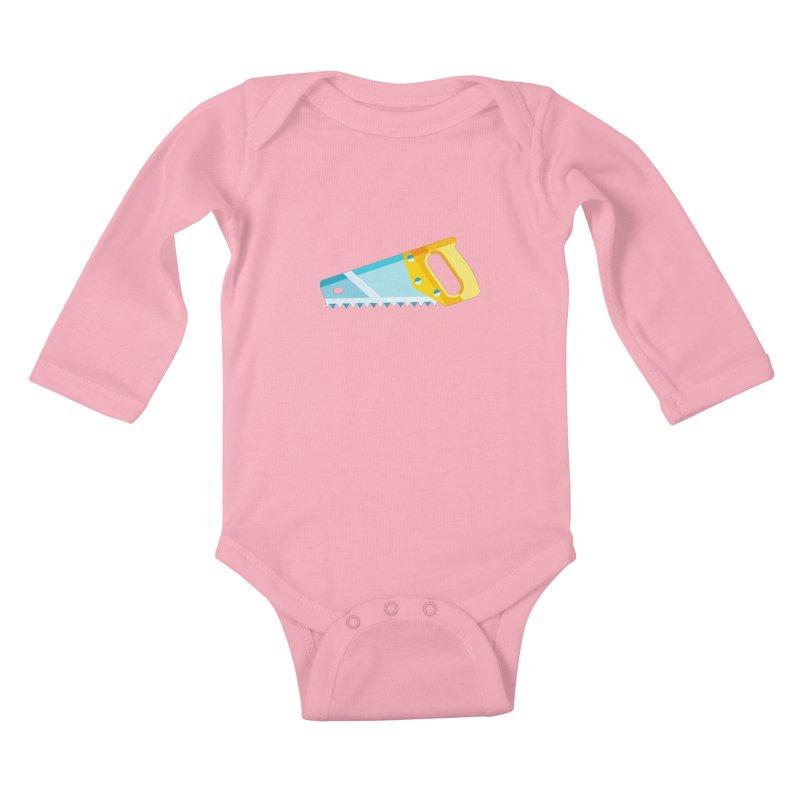 Saw Kids Baby Longsleeve Bodysuit by libedlulo