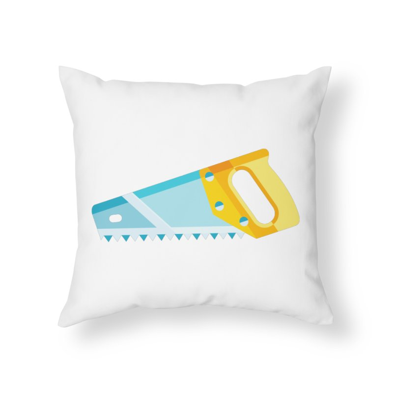 Saw Home Throw Pillow by libedlulo