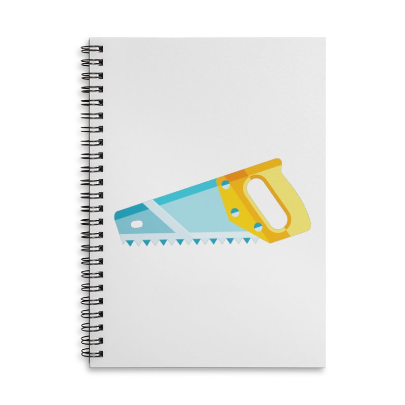 Saw Accessories Lined Spiral Notebook by libedlulo