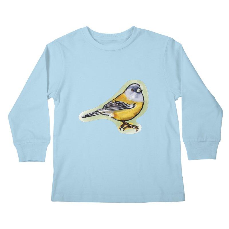 Cometocino Patagonico Kids Longsleeve T-Shirt by libedlulo