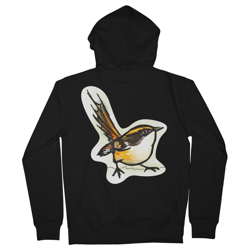 Churrin Bird Men's French Terry Zip-Up Hoody by libedlulo