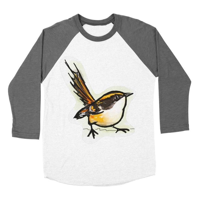 Churrin Bird Men's Baseball Triblend Longsleeve T-Shirt by libedlulo