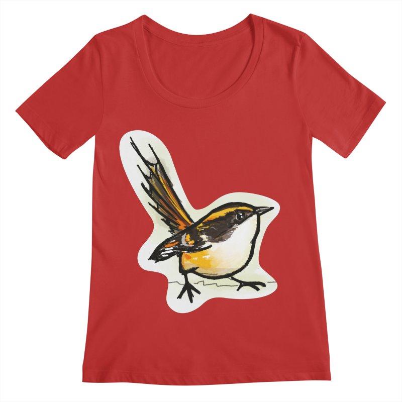Churrin Bird Women's Regular Scoop Neck by libedlulo
