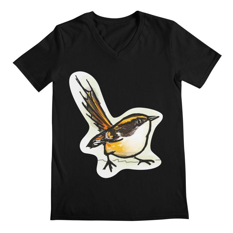 Churrin Bird Men's Regular V-Neck by libedlulo