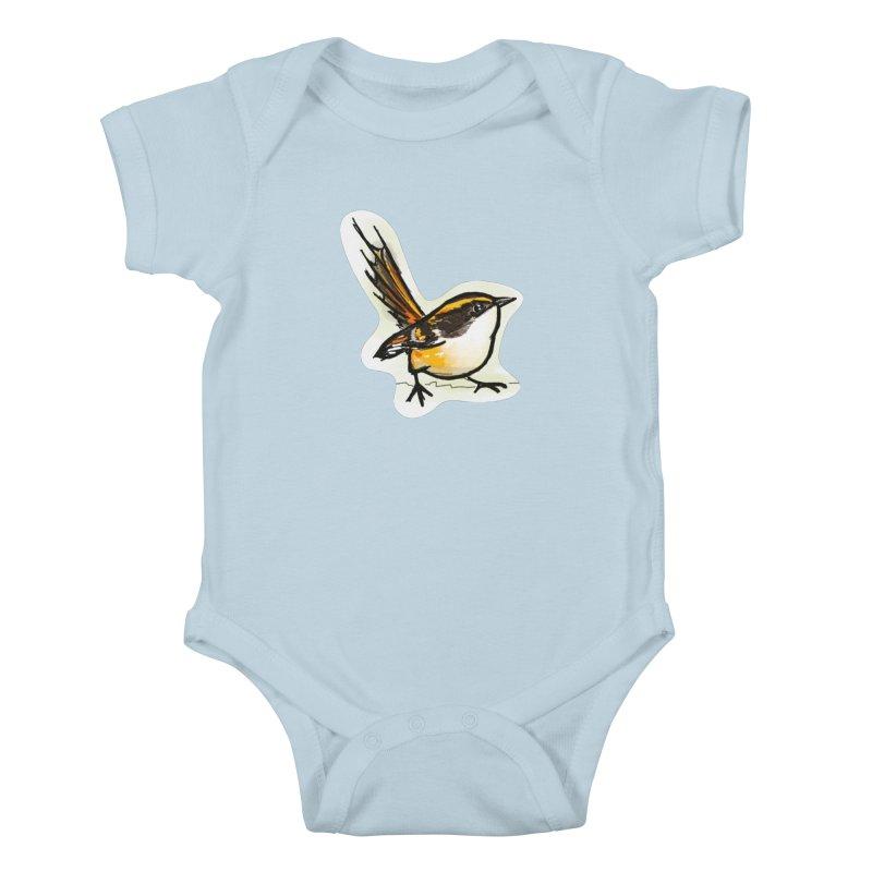 Churrin Bird Kids Baby Bodysuit by libedlulo