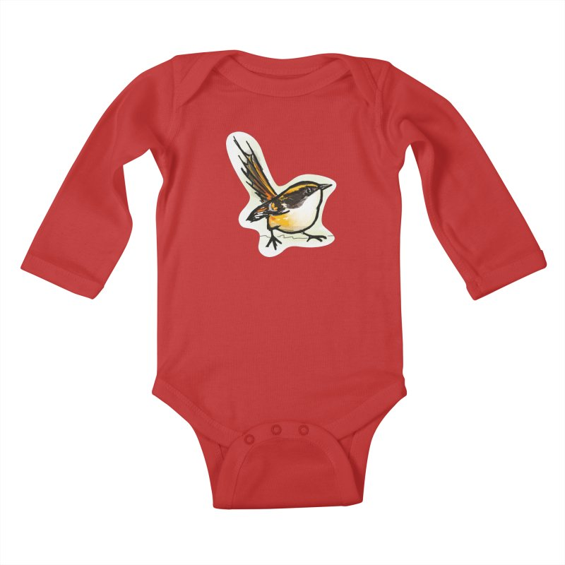 Churrin Bird Kids Baby Longsleeve Bodysuit by libedlulo