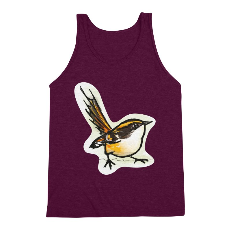 Churrin Bird Men's Triblend Tank by libedlulo