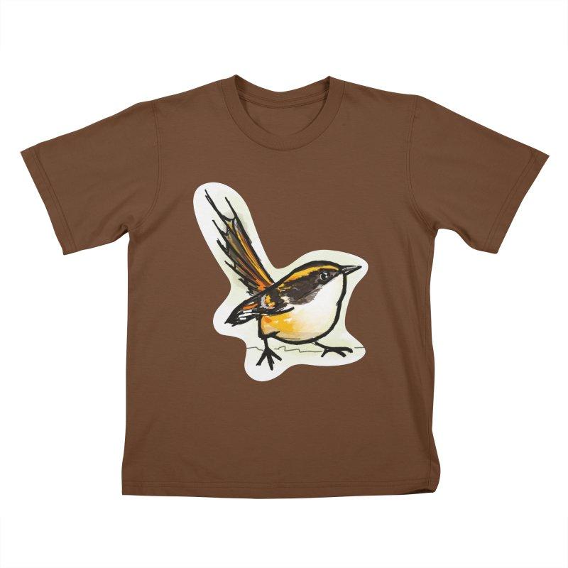 Churrin Bird Kids T-Shirt by libedlulo