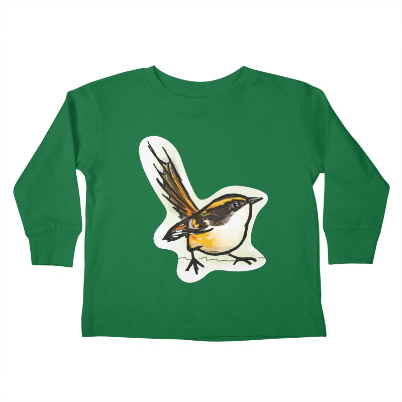 Churrin Bird Kids Toddler Longsleeve T-Shirt by libedlulo