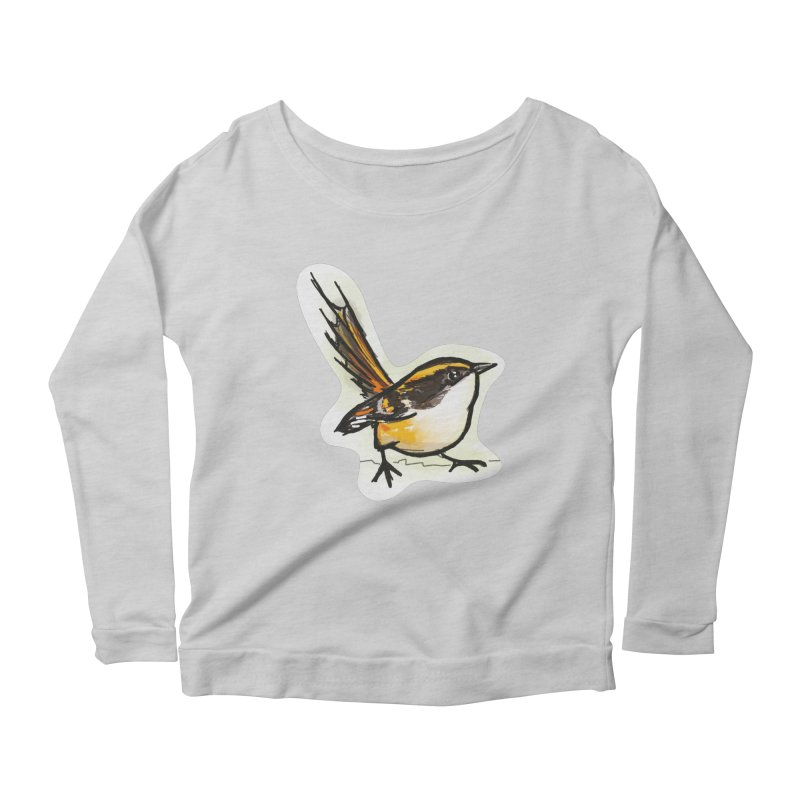Churrin Bird Women's Scoop Neck Longsleeve T-Shirt by libedlulo