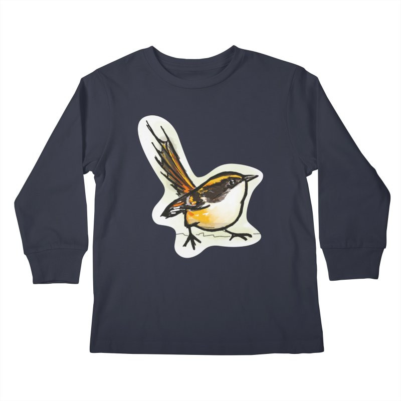 Churrin Bird Kids Longsleeve T-Shirt by libedlulo