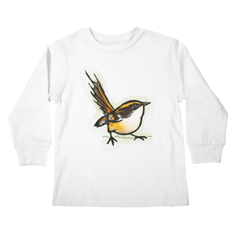 Churrin Bird Kids Longsleeve T-Shirt by libedlulo