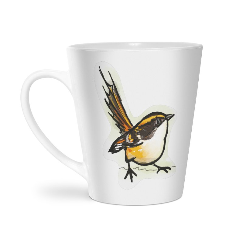 Churrin Bird Accessories Latte Mug by libedlulo