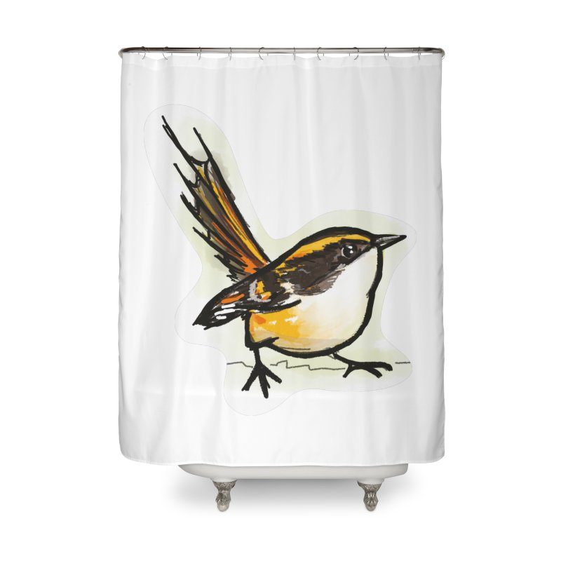 Churrin Bird Home Shower Curtain by libedlulo