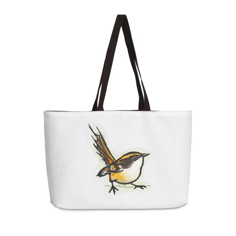 Churrin Bird Accessories Weekender Bag Bag by libedlulo