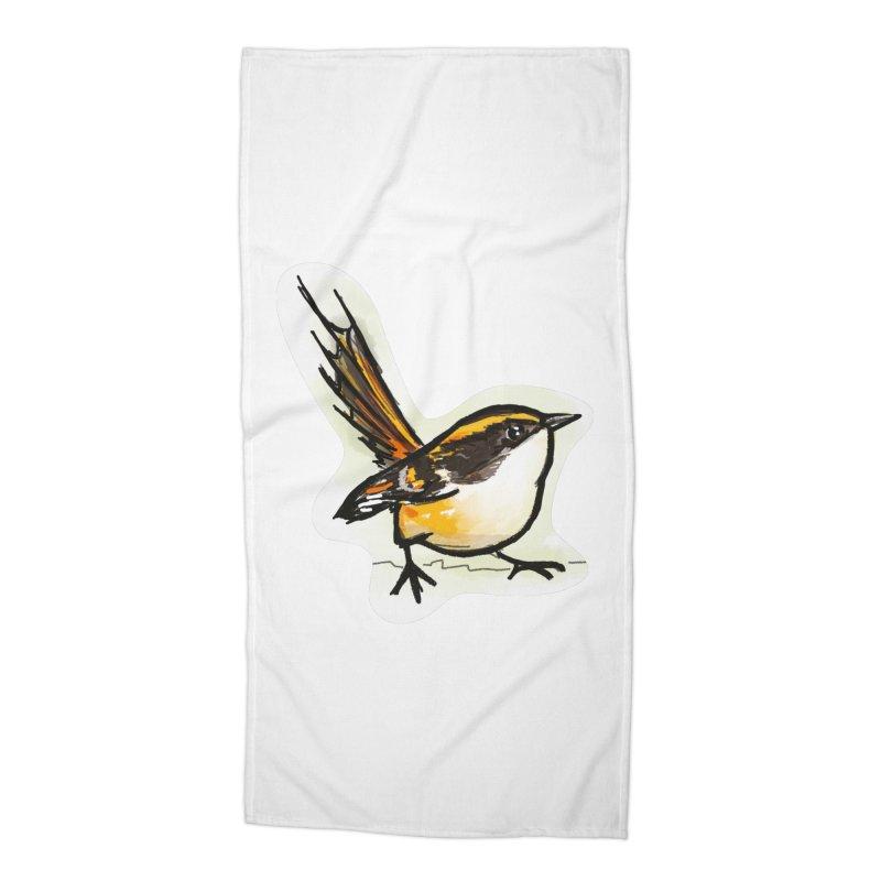 Churrin Bird Accessories Beach Towel by libedlulo