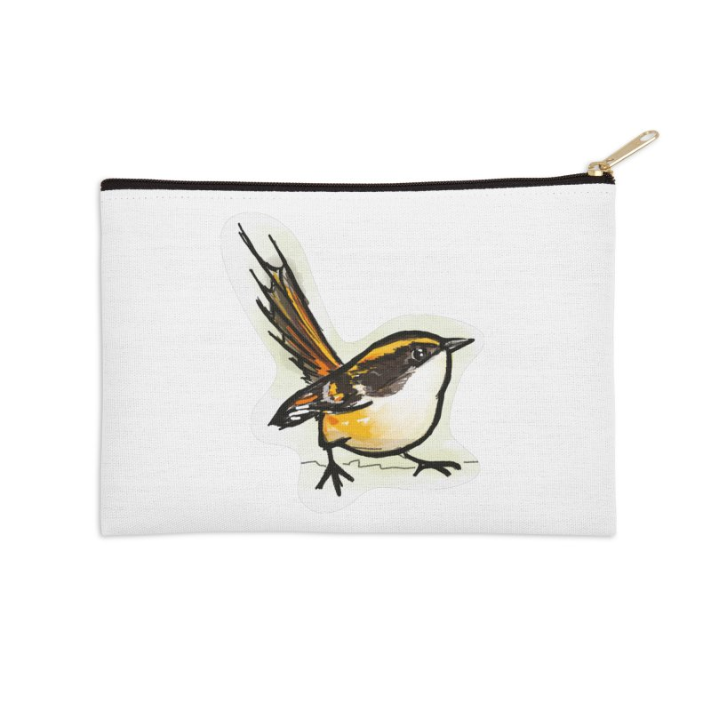 Churrin Bird Accessories Zip Pouch by libedlulo