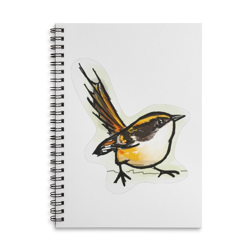 Churrin Bird Accessories Lined Spiral Notebook by libedlulo