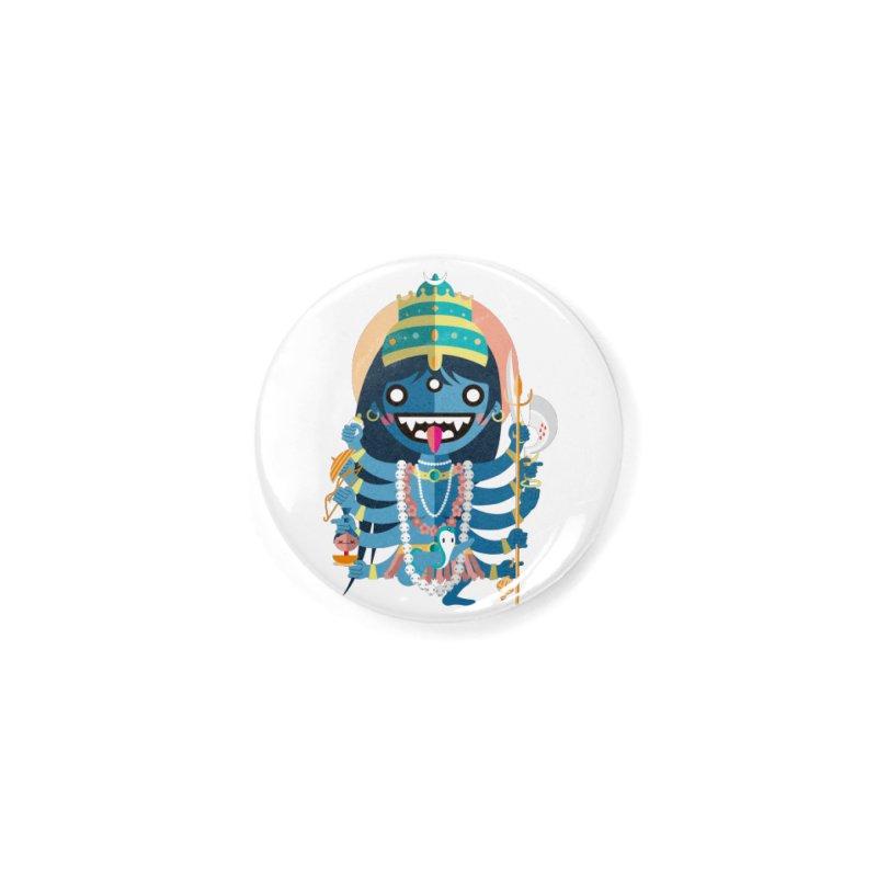 Kali Hindu Goddess Accessories Button by libedlulo