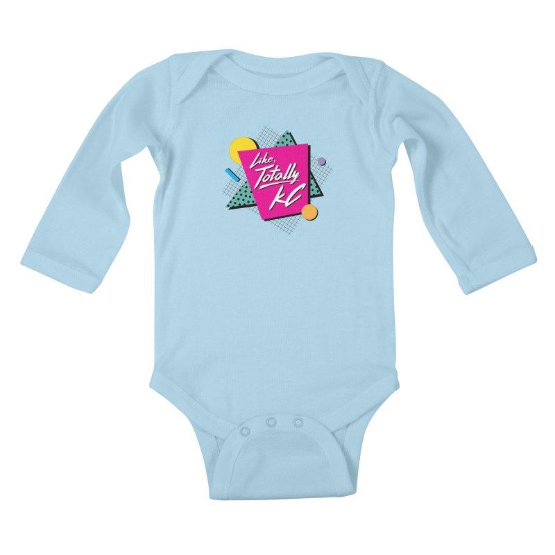 Totally KC Kids Baby Longsleeve Bodysuit by The Pitch Kansas City Gear Shop