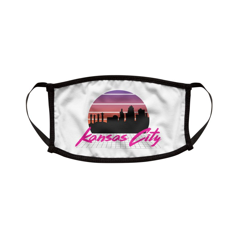 Kansas City Vaporwave Accessories Face Mask by The Pitch Kansas City Gear Shop