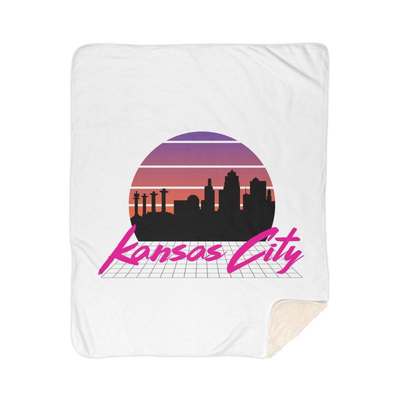 Kansas City Vaporwave Home Blanket by The Pitch Kansas City Gear Shop