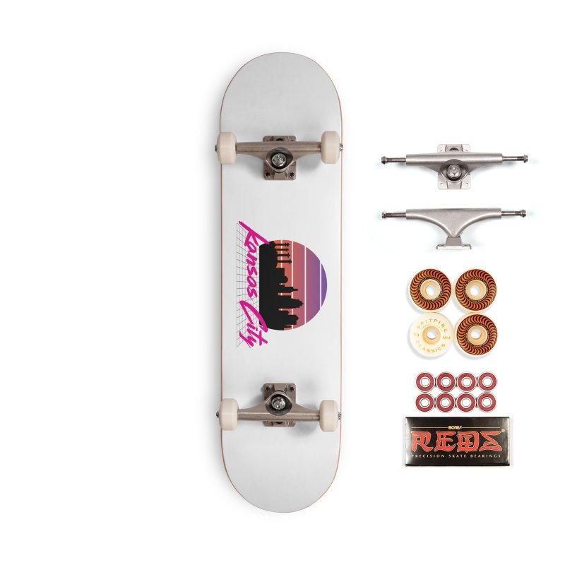 Kansas City Vaporwave Accessories Skateboard by The Pitch Kansas City Gear Shop