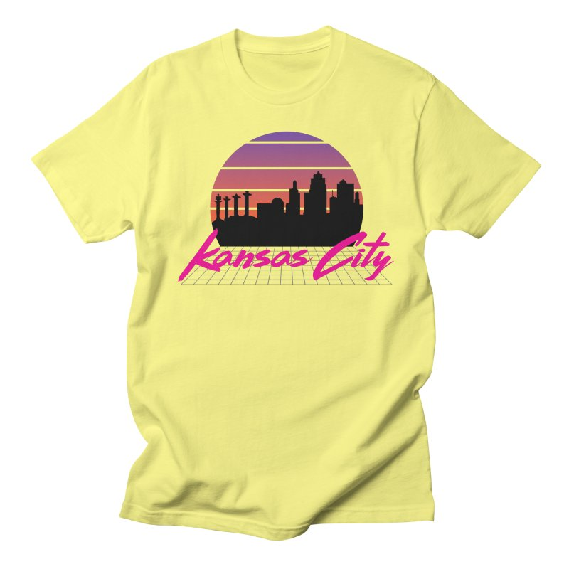 Kansas City Vaporwave Men's T-Shirt by The Pitch Kansas City Gear Shop