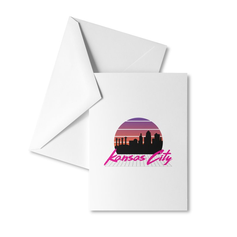 Kansas City Vaporwave Accessories Greeting Card by The Pitch Kansas City Gear Shop