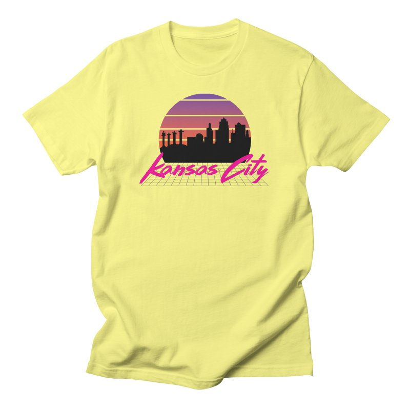 Kansas City Vaporwave Men's T-Shirt by The Pitch Kansas City Gear Shop