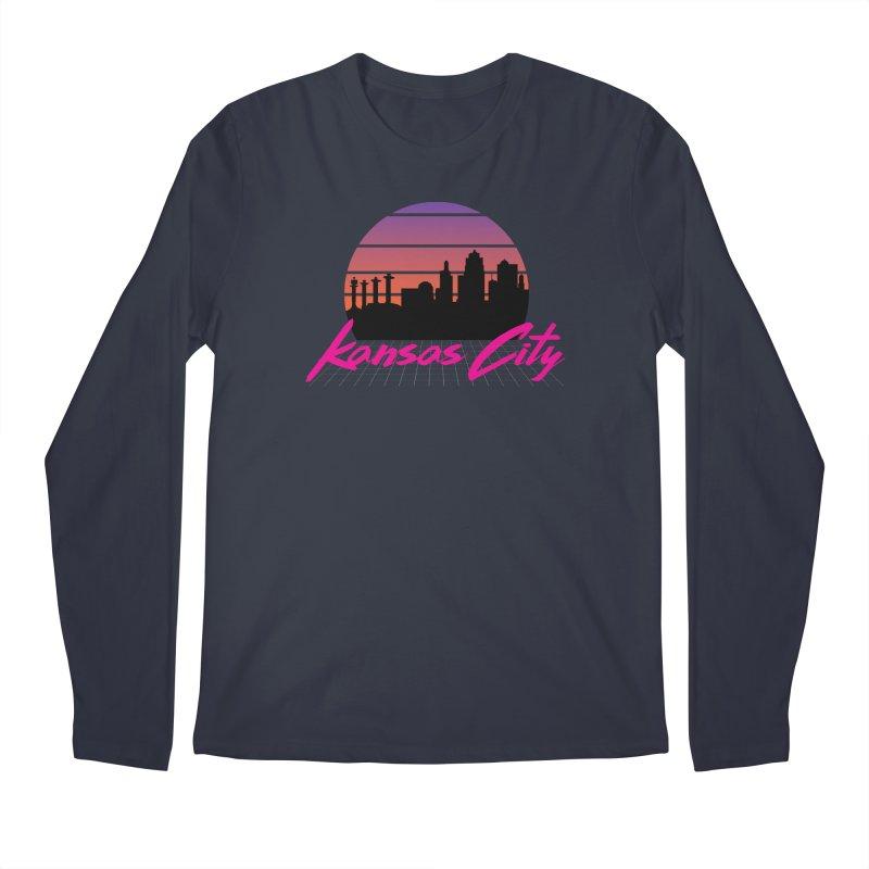 Kansas City Vaporwave Men's Longsleeve T-Shirt by The Pitch Kansas City Gear Shop