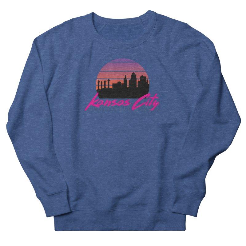 Kansas City Vaporwave Men's Sweatshirt by The Pitch Kansas City Gear Shop