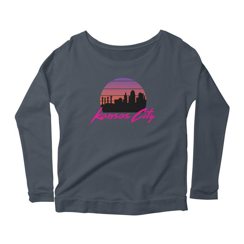 Kansas City Vaporwave Women's Longsleeve T-Shirt by The Pitch Kansas City Gear Shop