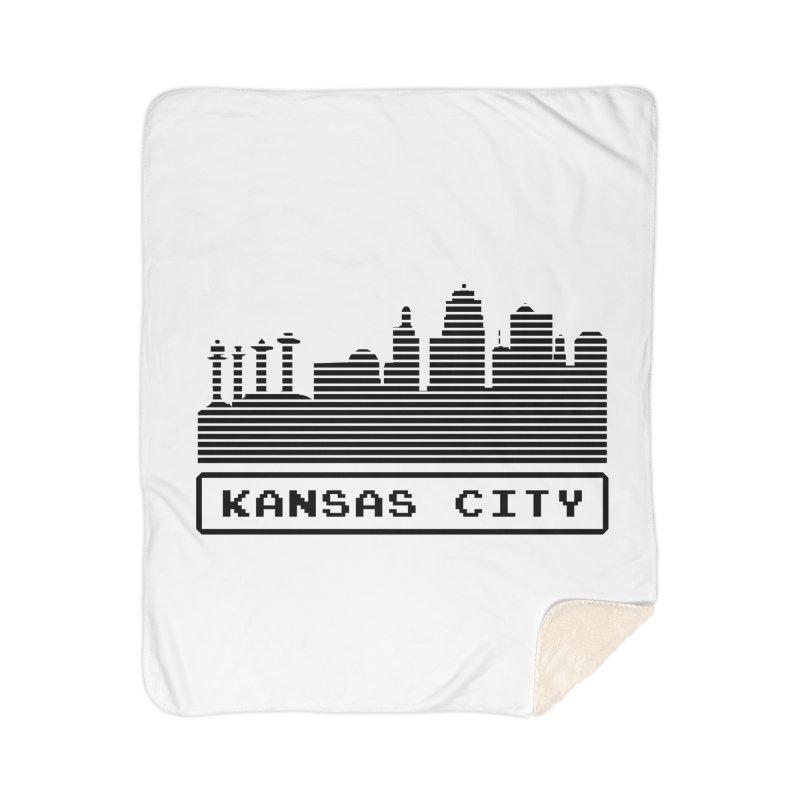 8-Bit KC Home Blanket by The Pitch Kansas City Gear Shop