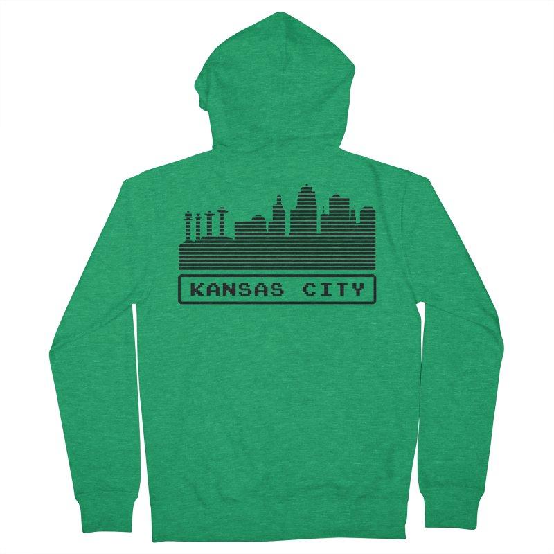 8-Bit KC Men's Zip-Up Hoody by The Pitch Kansas City Gear Shop