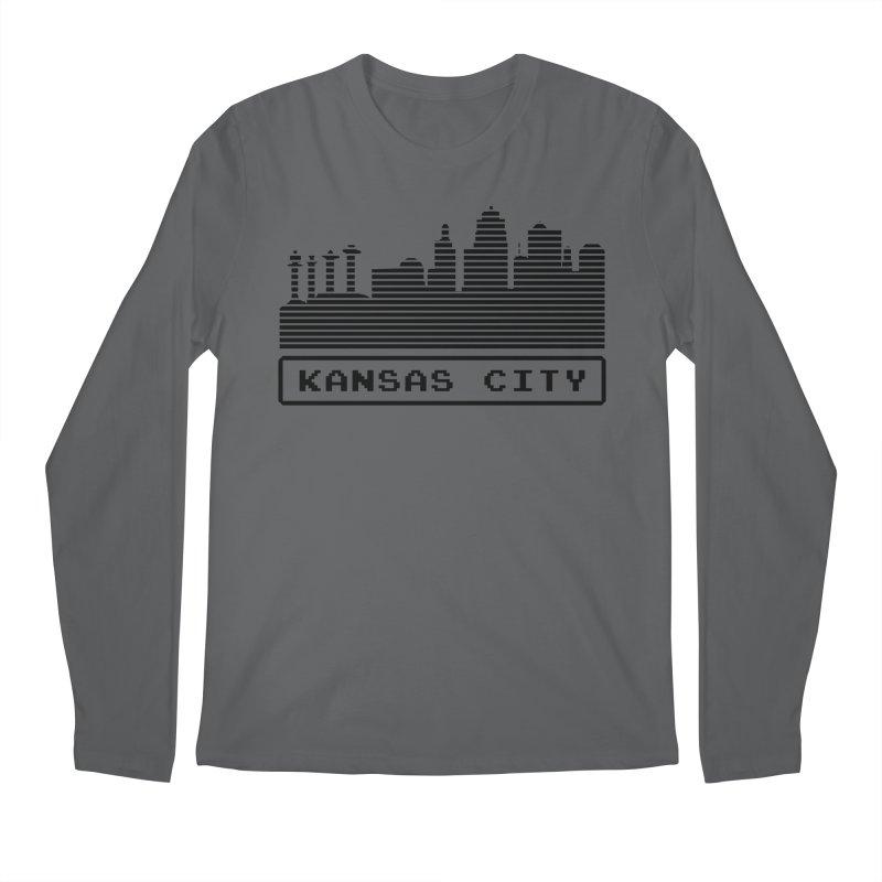 8-Bit KC Men's Longsleeve T-Shirt by The Pitch Kansas City Gear Shop