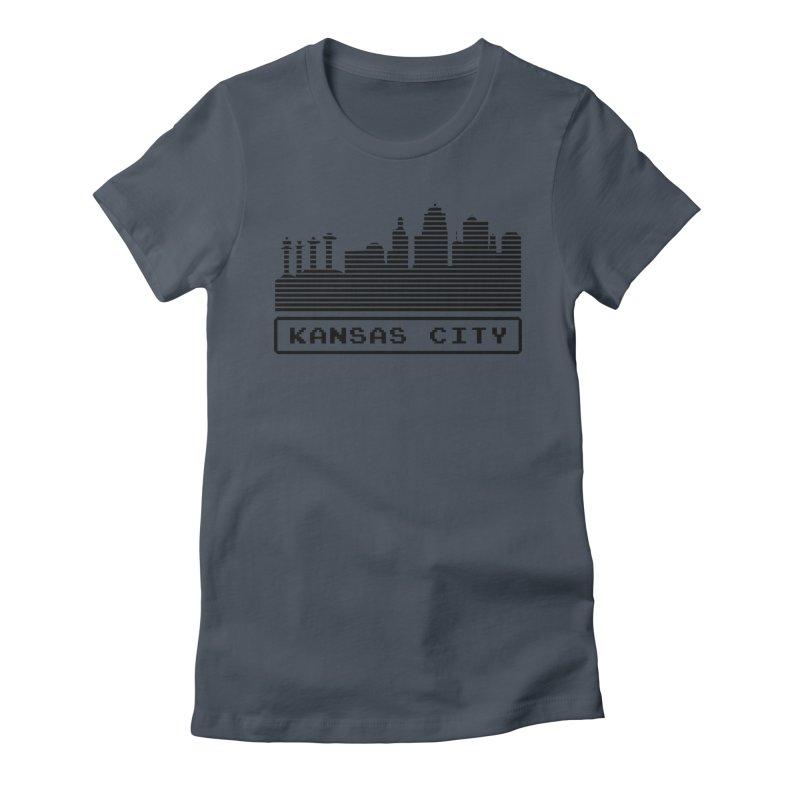 8-Bit KC Women's T-Shirt by The Pitch Kansas City Gear Shop