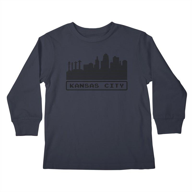 8-Bit KC Kids Longsleeve T-Shirt by The Pitch Kansas City Gear Shop