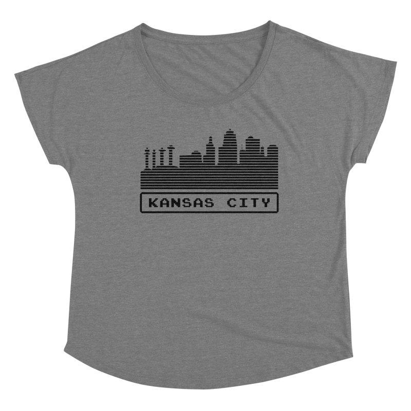 8-Bit KC Women's Scoop Neck by The Pitch Kansas City Gear Shop