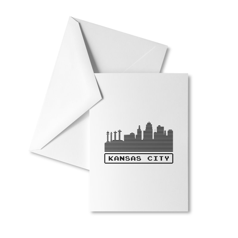 8-Bit KC Accessories Greeting Card by The Pitch Kansas City Gear Shop