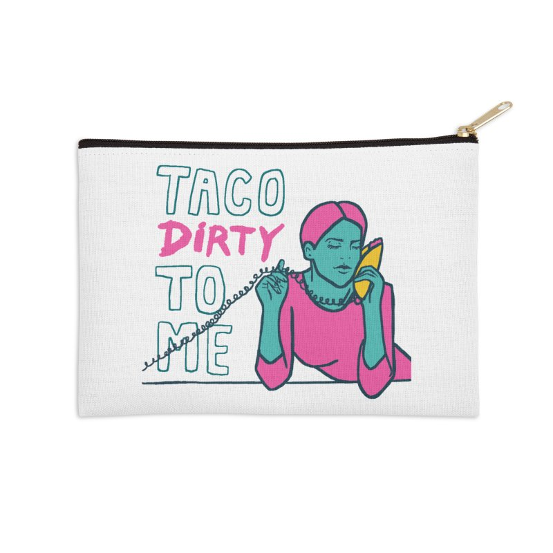 Taco Week - Taco Dirty To Me Accessories Zip Pouch by The Pitch Kansas City Gear Shop