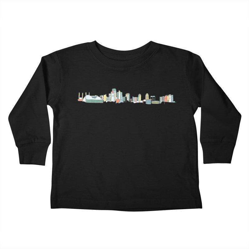 KC Sketchline Kids Toddler Longsleeve T-Shirt by The Pitch Kansas City Gear Shop
