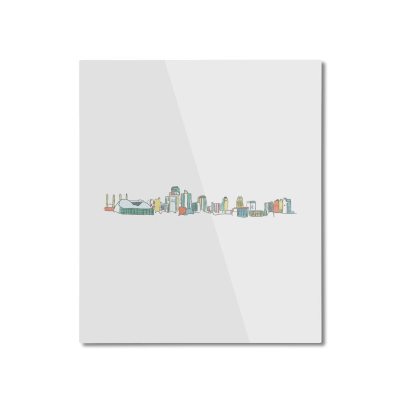 KC Sketchline Home Mounted Aluminum Print by The Pitch Kansas City Gear Shop