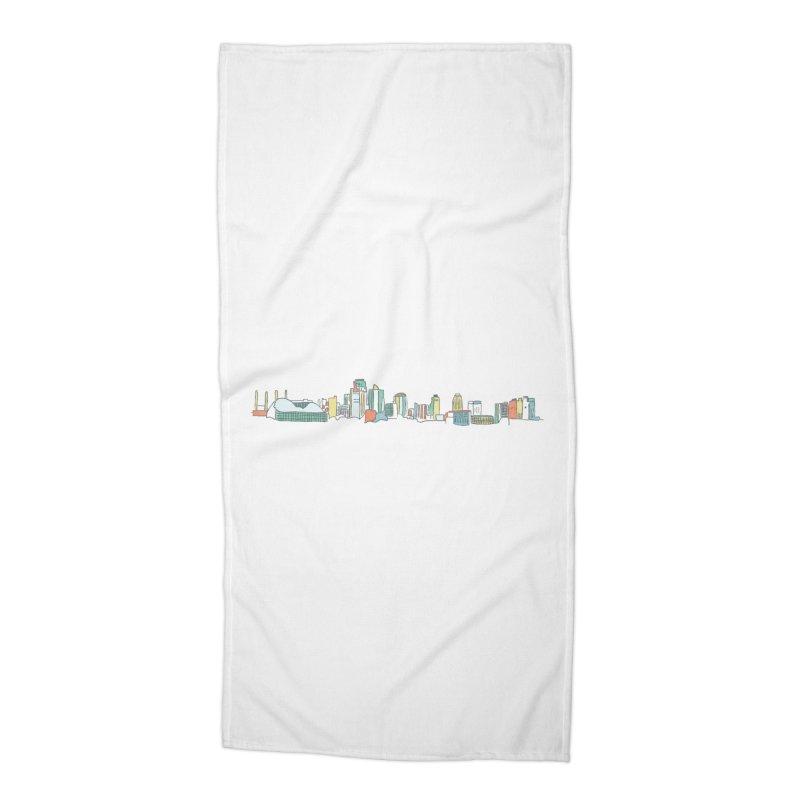 KC Sketchline Accessories Beach Towel by The Pitch Kansas City Gear Shop