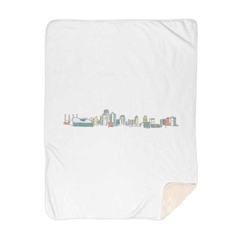 KC Sketchline Home Blanket by The Pitch Kansas City Gear Shop