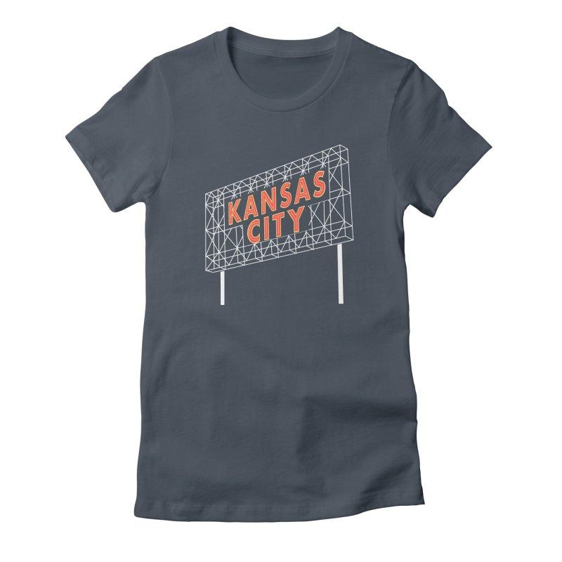 Kansas City Billboard Women's T-Shirt by The Pitch Kansas City Gear Shop