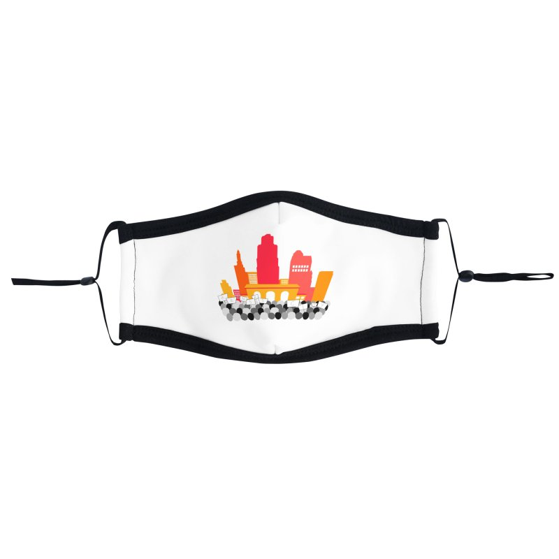 KC Union Station rally skyline Accessories Face Mask by The Pitch Kansas City Gear Shop