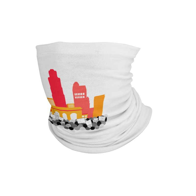 KC Union Station rally skyline Accessories Neck Gaiter by The Pitch Kansas City Gear Shop