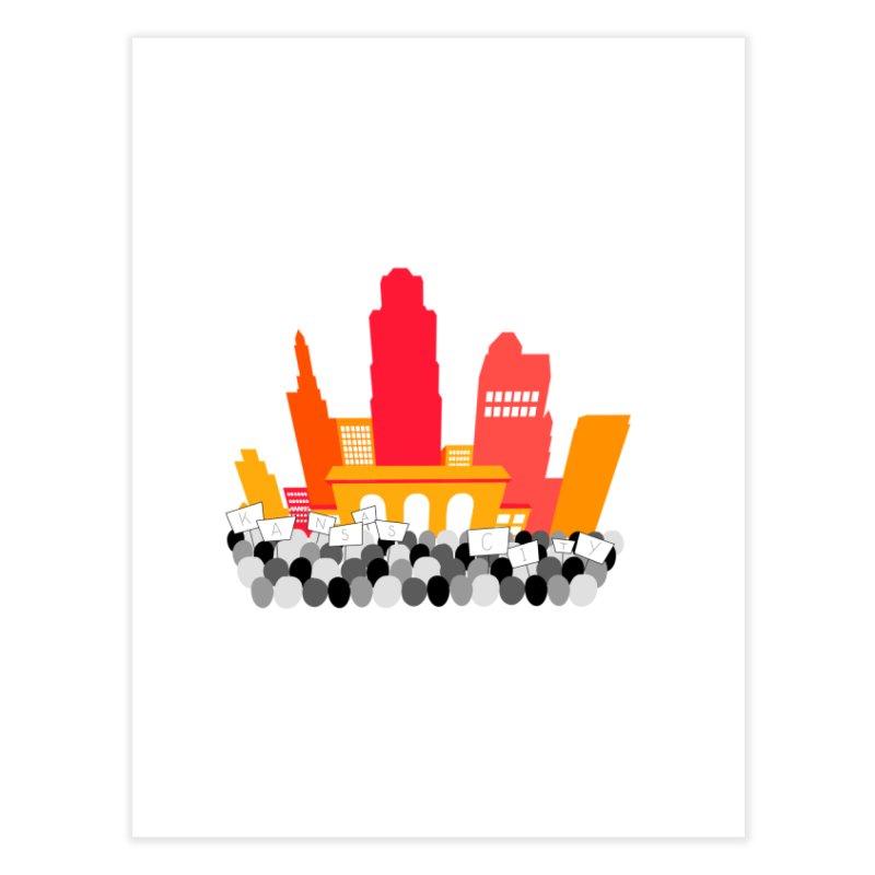 KC Union Station rally skyline Home Fine Art Print by The Pitch Kansas City Gear Shop
