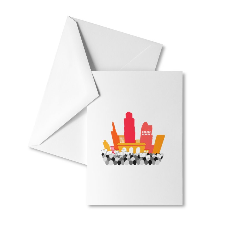 KC Union Station rally skyline Accessories Greeting Card by The Pitch Kansas City Gear Shop